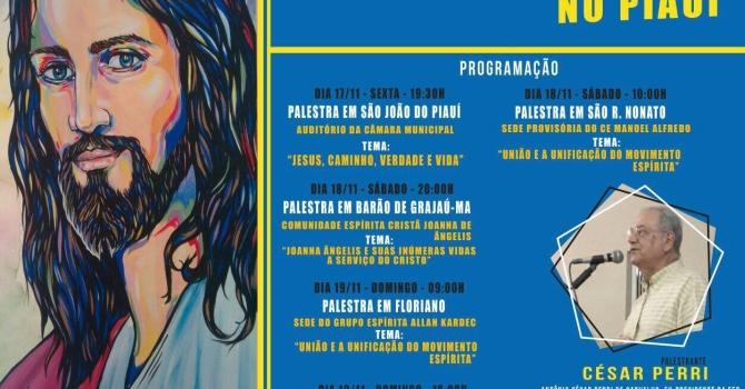 Cesar Perri participa de palestras em cidades piauienses